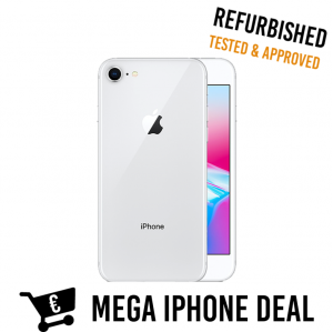Refurbished iPhone 8 Silver Mega iPhone Deal